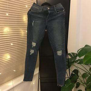 Frame Le Skinny Hi Rise Jeans